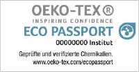 Die ECO PASSPORT by OEKO-TEX® Zertifizierung zielt ausdrücklich auf die Vermeidung von unerwünschten Chemikalien ab. © OEKO-TEX®