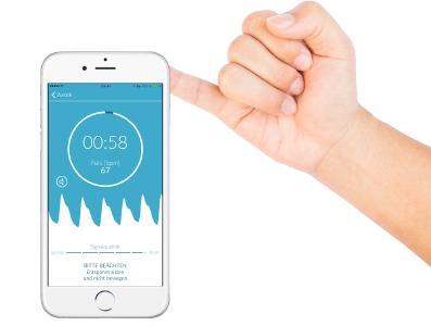 Abbildung der Preventicus Heartbeats App
