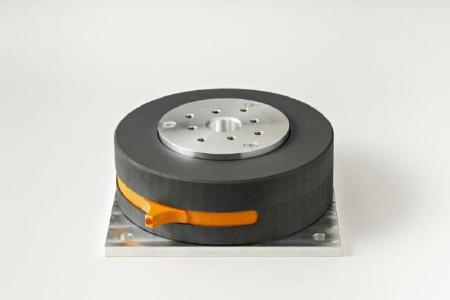 Prototype of a mount with tunable stiffness. Photo: Fraunhofer LBF/Raapke