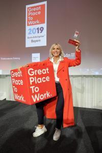 "TSO-DATA Nürnberg GmbH erhält erneut Great Place to Work® Award ""Bayerns Beste Arbeitgeber 2019"""
