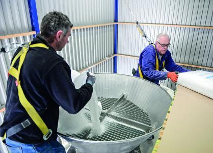 Die sht-Tochter N.T.M. hat ein kundenspezifisches Konzept entwickelt, damit Granulate sortenrein siliert und Verunreinigungen verhindert werden. (Foto: sht)