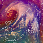 Meteosat-9 monitors storm approaching Norway