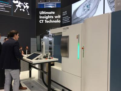 Das auf Geminy basierende YXLON FF35 CT überzeugte die Besucher durch die einfache Bedienung und überragende Prüfergebnisse
