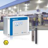 Das AFRISO Warngerät für Öl- und Benzinabscheider WGA 01 ist z.B. in Autohäusern oder Werkstätten, in Entsorgungsbetrieben, auf Flughäfen, in Tankstellen, in KFZ-Waschanlagen oder auf Schrottplätzen einsetzbar / Foto: AFRISO