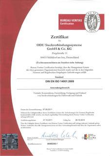 Erfolgreiche Zertifizierung nach DIN EN ISO 14001:2009