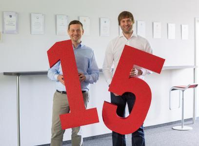 Seit 15 Jahren Teil der BROCKHAUS AG: Geschäftsleiter Matthias Besenfelder und Guido Nippe