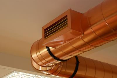 Klimaanlagen aus Kupfer sind auch optisch ein Hingucker.