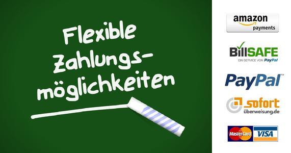 Flexible Zahlungsmöglichkeiten