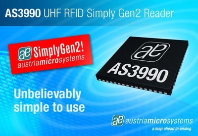 austriamicrosystems and IE Technology Ltd present the RU-210u, a mid range UHF RFID reader with USB serial interface