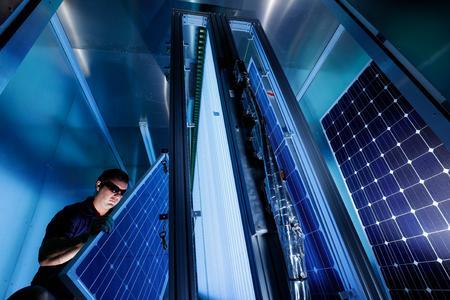 Prüfung von Solarmodulen in Arizona