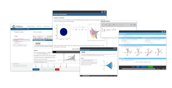 Möbius bietet eine Online-Lernerfahrung, die die Studierenden aktiv für das Material begeistert und ihnen ständiges Feedback liefert