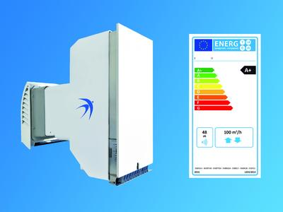 Das Lüftungssystem freeAir100 von bluMartin erhält für seine Energieeffizienz die Bestnote A+