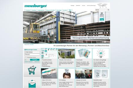 Successful relaunch of the Meusburger web site