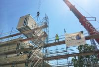 Modulmontage der neuen Kita in Ludwigshafen