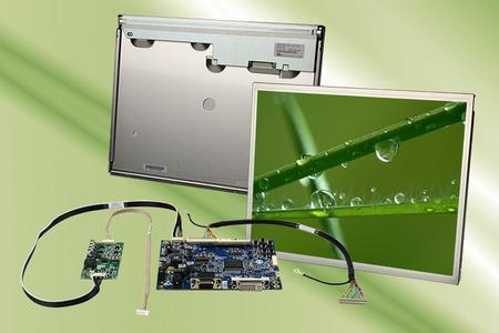 TFT Display Kit mit 15 Zoll Mitsubishi TFT Display, PrismaECO-III Ansteuerkarte, Konverter und Kabeln