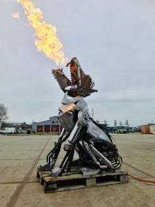 Feuerspeiender Wolf Fenrir von Ronald Duikersloot