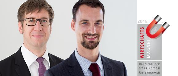 Dr. Marc Poppner und Markus Frey, Geschäftsführer der Zielpuls GmbH