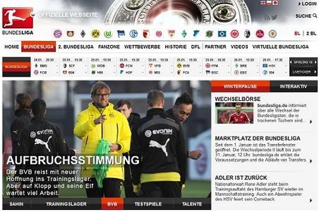 Screenshot Bundesliga.de