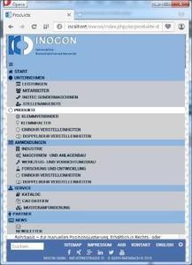 Webseiten-Relaunch der Firma INOCON - Der Spezialist für Klemmverbinder und Verstelleinheiten