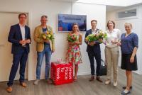 CINTELLIC Geschäftsführer Dr. Jörg Reinnarth (links) bei der Danksagung
