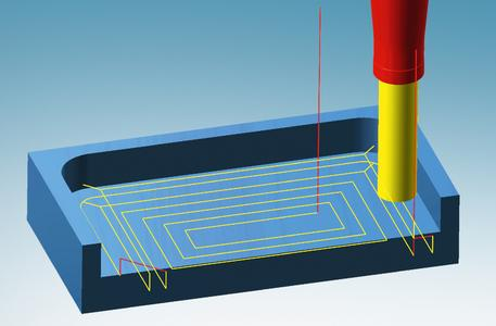 Automatische Programmierung von Rechtecktaschen: der Bearbeitungsmodus Normtasche (Bildquellen : OPEN MIND)