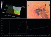 Mit Technologien wie der 3D-Miskroskopie gelingt es den Experten von WRETEC, die Kontaminationen mit Rostpartikeln genau zu erkennen: In unterschiedlichen Darstellungsweisen wird die Höhe von Rostflecken konkret angezeigt. (Bildquelle: WRETEC)