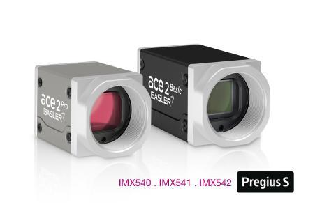 Basler ace 2 mit Sony Pregius S Sensoren.  Basler ace 2 Pro USB 3.0 und ace 2 Basic GigE