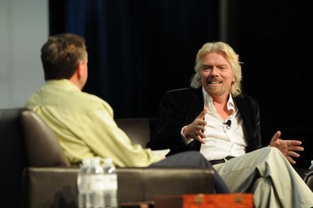 Gastredner Sir Richard Branson im Gespräch mit Jeff Ray, CEO DS SolidWorks