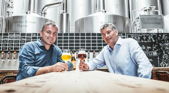 Geschäftsführende BrauKon-Gesellschafter: Markus Lohner (l.), Christian Nuber