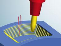 5axis contour offset finishing: hyperMILL 2013® now supports barrel cutters, Image source: OPEN MIND