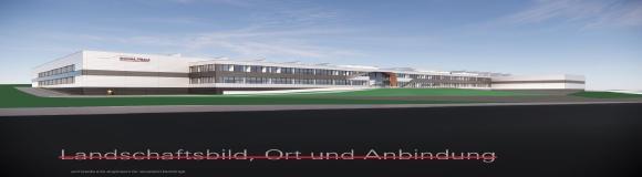 Abbildung: Modell neues Produktionswerk in Velden