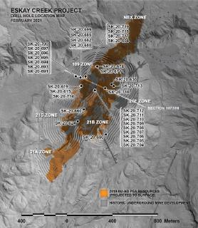 Skeena Intersects 13.86 g/t AuEq over 25.27 metres in Hanging Wall Zone at Eskay Creek