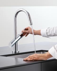 Die WimTec VIVA K4 mit intelligenter Freispülautomatik HyPlus zur Sicherstellung der Trinkwasserhygiene ist als Hochdruck- und auch als Niederdruck-Ausführung erhältlich. Bildcredit: WimTec