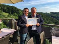 SunPower Europachef Jan De Rybel und Geschäftsführer Willi Harhammer