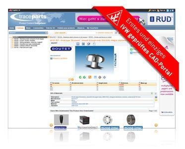 TracePartsOnline.net ist als erstes und einziges CAD-Katalog Portal bei der deutschen unabhängigen Prüfinstitution IVW gelistet.