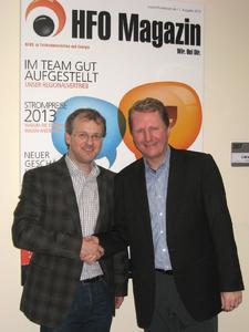Johannes Bisping, Geschäftsführender Gesellschafter und Achim Hager, Vorstandsvorsitzender HFO Telecom AG