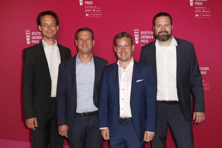 Geschäftsführung CQSE beim Deutschen Gründerpreis 2018