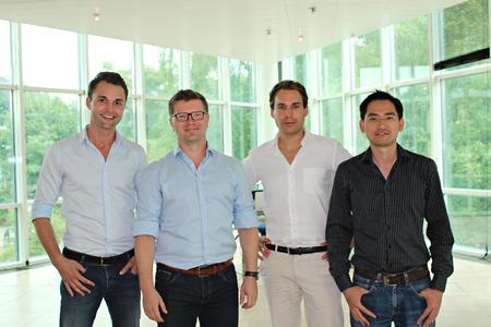 appear2media Gründer, Timon von Bargen, Martin Krotki, Camillo Stark und Vinh-Hieu On