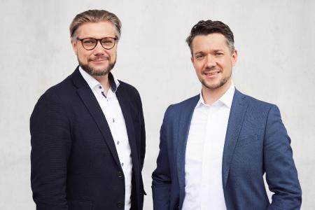 Tacterion, ein Münchener Sensor-Technologie-Unternehmen, schliesst Series-A-Finanzierungsrunde mit zwei globalen Industrieunternehmen ab (Dr. Michael Strohmayr links, Daniel Strohmayr rechts)