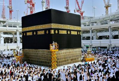 Haulotte in Ceremony of changing the cover of Kaaba In Holy Mecca - KSA