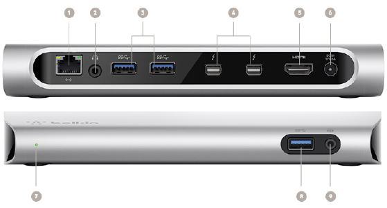 Belkin Thunderbolt 3 Express Dock HD verfügbar
