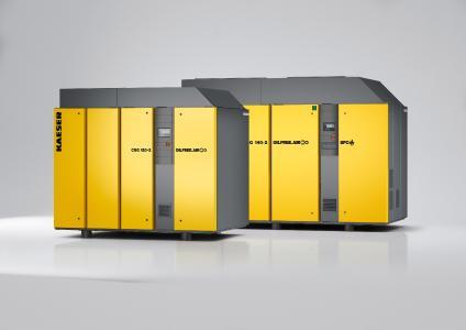Die ölfrei verdichtenden Schraubenkompressoren der Baureihen CSG, DSG und FSG liefern nicht nur Druckluft sondern auch Prozesswärme. Dadurch sind sie ideal für den Einsatz in Kombination mit Strahlmühlen
