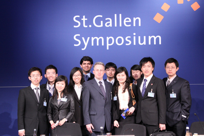 Besides the World Economic Forum in Davos, the St. Gallen symposium represents one of the most important international economic events