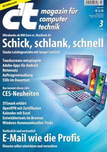 Das Titelbild der aktuellen c't-Ausgabe 3/2012