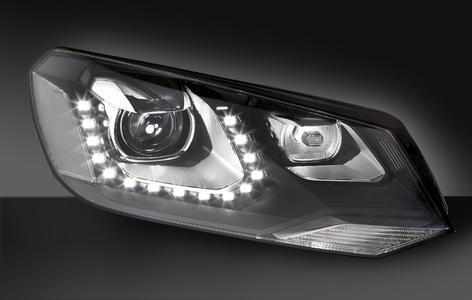 Weltneuheit im neuen VW Touareg: der Dynamic Light Assist basiert auf dem intelligenten Zusammenspiel einer Frontkamera, leistungsfähiger Software zur Bildverarbeitung sowie modernster Lichttechnik aus dem Hause Hella