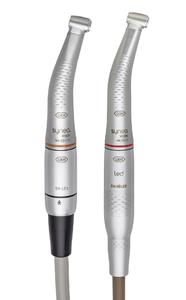 The combination of Synea Vision Short Edition contra-angle handpieces with the EM-12 LED electric motor: 25% lighter and 15% shorter than the classic system
