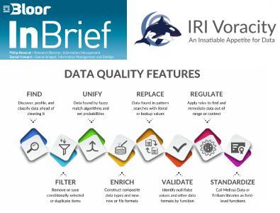 IRI Voracity ist die einzige organisch gewachsene, vollständig integrierte Datenlebenszyklus-Management-Plattform und Manipulationskraftpaket für große und kleine Daten. Es ist auch der einzige BI/DW- und Data Governance-Stack, der auf CoSort und nahtlos integrierten Hadoop-Engines basiert. Und es wird in einer kostenlosen, vertrauten Eclipse-GUI für ergonomisches Jobdesign, -bereitstellung und -management unterstützt.