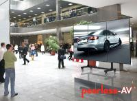 Peerless DS-C555 - portabler Videowall / 3 x 3 Displays Wagen fuer Messen