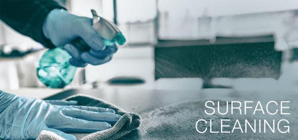 Stufe 2 des Purify Hygiene Konzepts: Oberflächenreinigung