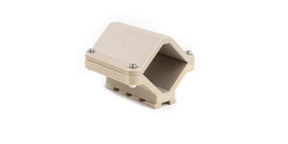 Eine 3D-gedruckte Vorrichtung aus PEEK (Polyetheretherketon) für den industriellen Gebrauch